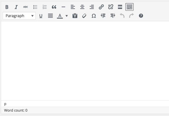 Wordpress 4.6 κειμενογράφος