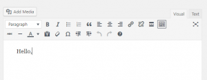 Wordpress 4.7 κειμενογράφος